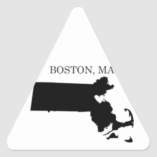 Boston Massachusetts Triangle Sticker