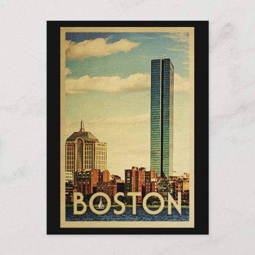 Boston Massachusetts Vintage Travel Postcard