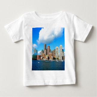 boston Massachusetts water and skyline Baby T-Shirt