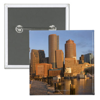 Boston, Massachusetts Waterfront Pinback Button