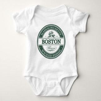 boston massachusetts - wicked pissah baby bodysuit