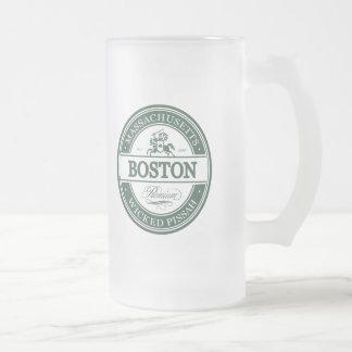 boston massachusetts - wicked pissah frosted glass beer mug