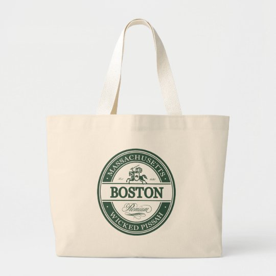 boston massachusetts - wicked pissah large tote bag