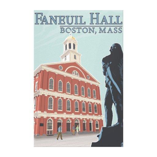 Boston, MassachusettsFaneuil Hall View Canvas Print