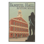 Boston, MassachusettsFaneuil Hall View Wood Wall Art