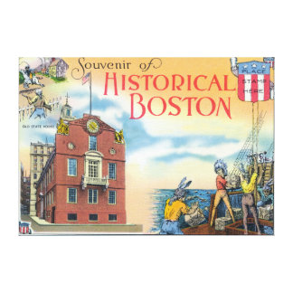 Boston, MassachusettsHistorical Boston Scenes Canvas Print