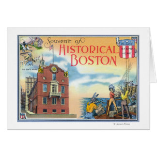 Boston, MassachusettsHistorical Boston Scenes Card