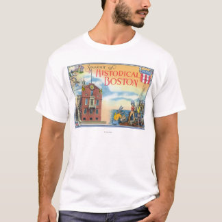 Boston, MassachusettsHistorical Boston Scenes T-Shirt