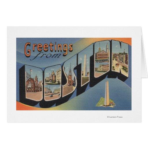 Boston, MassachusettsLarge Letter Scenes 2 Card