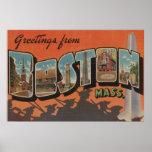 Boston, MassachusettsLarge Letter Scenes 2 Print