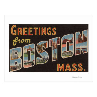 Boston MassachusettsLarge Letter Scenes 3 Postcard