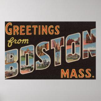 Boston, MassachusettsLarge Letter Scenes Print