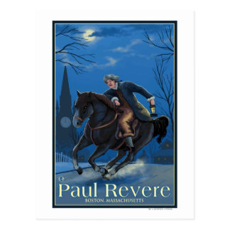 Boston MassachusettsPaul Revere s Ride Postcard