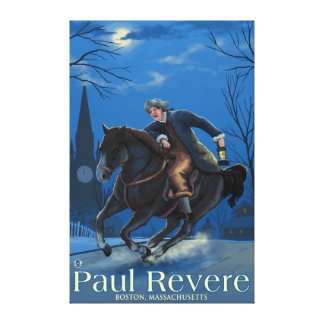 Boston, MassachusettsPaul Revere's Ride Stretched Canvas Prints