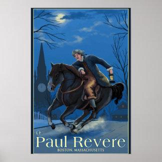 Boston, MassachusettsPaul Revere's Ride Poster