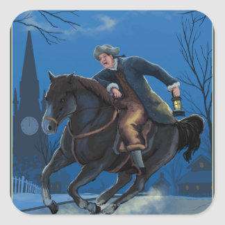 Boston, MassachusettsPaul Revere's Ride Square Sticker