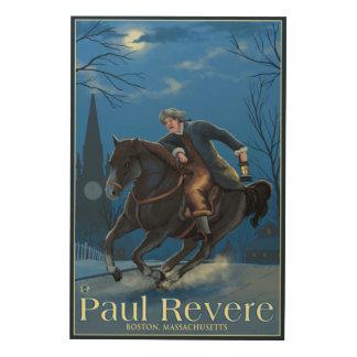 Boston, MassachusettsPaul Revere's Ride Wood Canvases