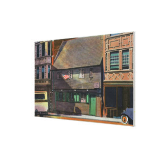 Boston, MassachusettsView of Paul Revere House Canvas Print