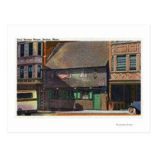 Boston, MassachusettsView of Paul Revere House Postcard