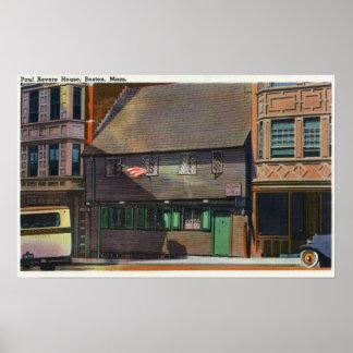 Boston, MassachusettsView of Paul Revere House Poster