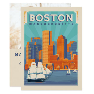 Boston, Massachussetts | Save the Date - Photo Card
