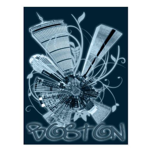 BOSTON MINI PLANET POSTCARD