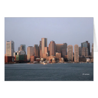 Boston morning--thinking of you stationery note card
