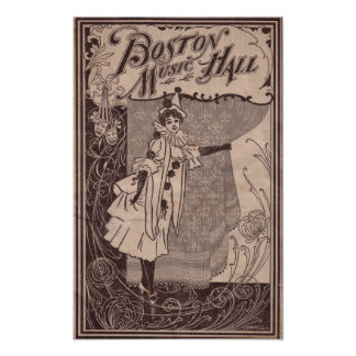 Boston Music Hall Poster 1902 - Massachusetts