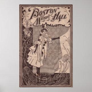 Boston Music Hall Poster 1902 - Massachusetts