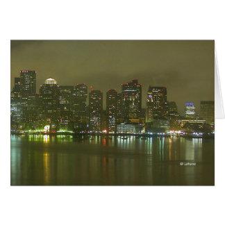 Boston Night 2--thinking of you Stationery Note Card