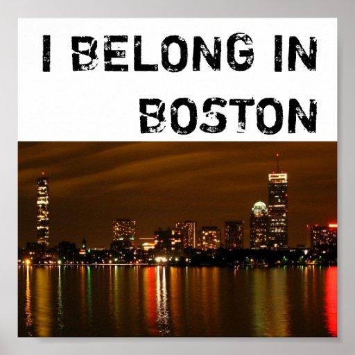 Boston_night, PERTENEZCO EN BOSTON Posters