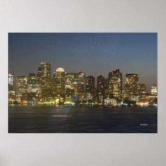 Boston Night Sky Poster