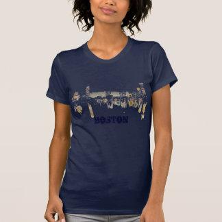 Boston Night Skyline T Shirts