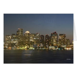 Boston Night--thinking of you Stationery Note Card