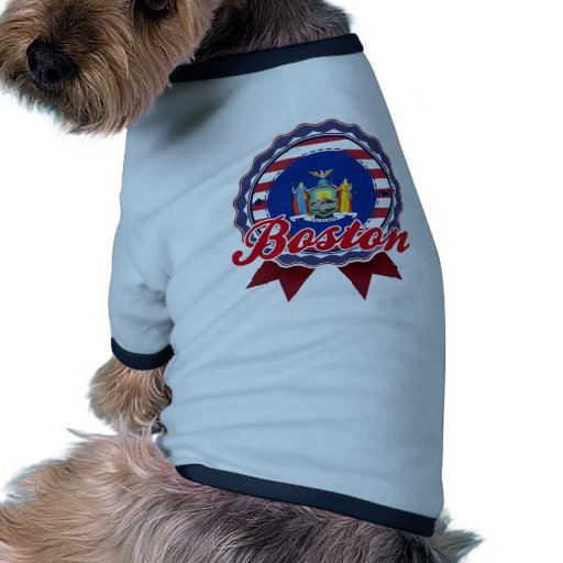 Boston, NY Camiseta Con Mangas Para Perro