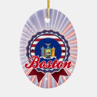 Boston, NY Christmas Tree Ornament