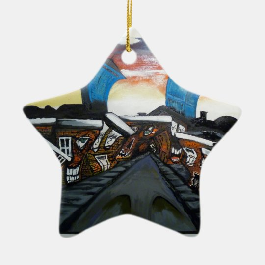 Boston ON Acid 2 Ceramic Ornament