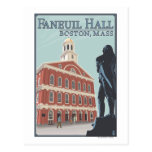 Boston, opinión de MassachusettsFaneuil Pasillo Tarjetas Postales