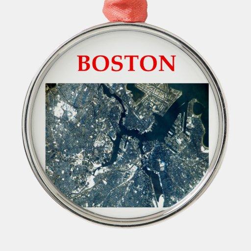 Boston Ornamento Para Arbol De Navidad