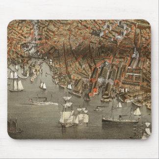 Boston Panoramic Map 1898 Mousepad