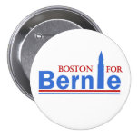 Boston para Bernie Pin Redondo De 3 Pulgadas