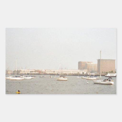 Boston Pegatina Rectangular