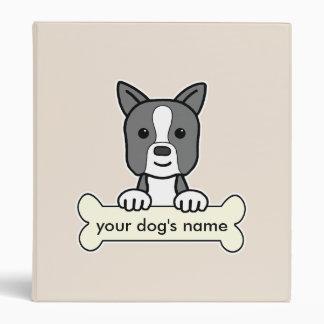 "Boston personalizada Terrier Carpeta 1"""