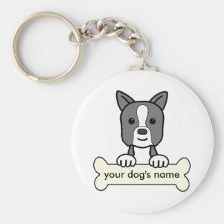 Boston personalizada Terrier Llaveros Personalizados