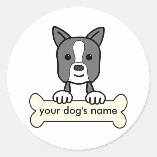 Boston personalizada Terrier Pegatinas Redondas