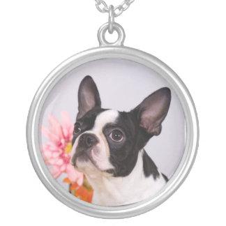 Boston Pink Flower Necklace