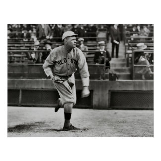 BOSTON PITCHER BABE RUTH  1915 POSTER