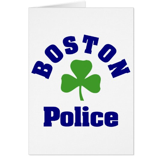 BOSTON Police Card
