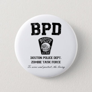 Boston Police Department Zombie Task Force Button