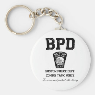 Boston Police Department Zombie Task Force Key Chain